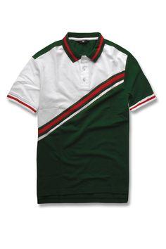 Milano Polo Shirt (Green) Polo Shirt Design, Shirt Designs, Polo Ralph Lauren, Cotton, Mens Tops, Shirts, Green, Fashion, Moda