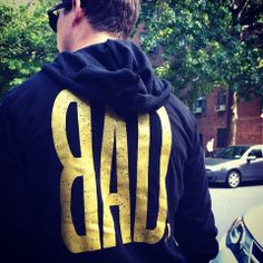 BAD limited edition black and gold hoodie