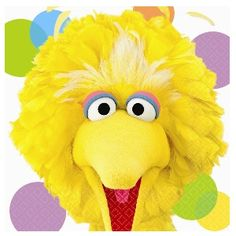 Our Sesame Street Big Bird Luncheon Napkins feature Big Bird with colorful dots in the background. Party Napkins, Napkins Set, Dinner Napkins, Sesame Street Party Supplies, The Muppet Show, Sesame Street Birthday, Birthday Supplies, Animal Party, Balloons