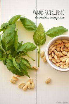 Bocadinhos de Açúcar: Pesto de amêndoa e manjericão