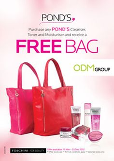 Promotional Gift Bag as Gift with Purchase by Pond's