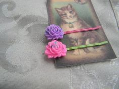 Two Fancy Pink and Purple Sparkle Hair Bobby Pins | RosesHeirlooms - Jewelry on ArtFire
