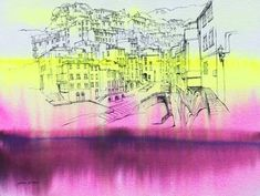 "Saatchi Art Artist Salomé Salazar; Painting, ""Uninhabited Places 005, Riomaggiore"" #art"