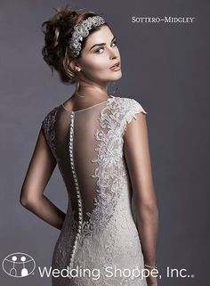 Stand out cap sleeve wedding dress.