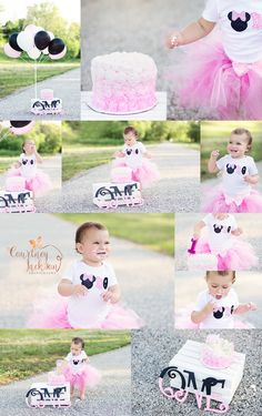 Courtney Jackson Photography // Marietta, Ohio photographer // cake smash // Minnie Mouse theme // smash cake // 1st birthday session // baby photographer
