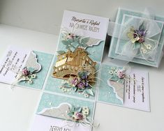Magic Box, Wedding Boxes, Wedding Cards, Diy Exploding Box, Creative Gift Wrapping, 3d Cards, Mothers Day Cards, Diy Box, Copics