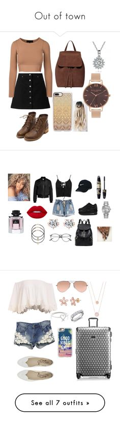 """Out of town"" by yourfashionbabe ❤ liked on Polyvore featuring Miss Selfridge, Casetify, Olivia Burton, NIKE, Boohoo, Sans Souci, Rolex, Nike Golf, Lime Crime and Max Factor"
