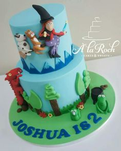 Room on the broom Beautiful Cakes, Amazing Cakes, Room On The Broom, 3rd Birthday Cakes, Book Cakes, Character Cakes, Halloween Cakes, Cakes For Boys, Love Cake