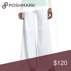 MISOOK NEW WHITE PALAZZO PANTS 2X MISOOK Fade Resistant Wrinkle Free White 2X NEW WITH TAGS Misook Pants Wide Leg