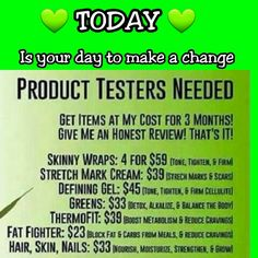 Do you want to make the change to a tighter, toner figure  Message/Call/Text Debra (561)914-0815