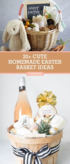 In a pinch for Easter basket ideas? Toddlers, teenagers, and adults alike will love these creative Easter baskets. #easter #easterDIY #eastercrafts #easterbaskets