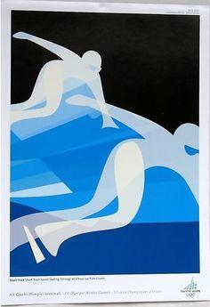 Torino (Turin) 2006 Winter Olympics - Short track speed skating poster