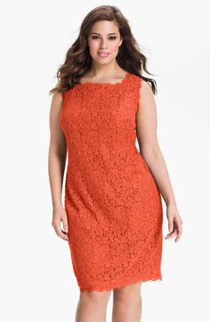 Adrianna Papell Sleeveless Lace Sheath Dress (Plus Size) | Nordstrom