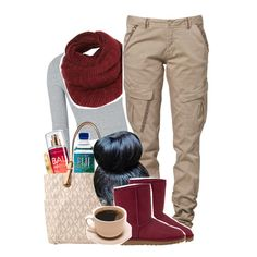 """""""It's Cold asf out here"""" by xomadibbyyy ❤ liked on Polyvore featuring Topshop, CREAM, Cartier, MICHAEL Michael Kors and UGG Australia"""