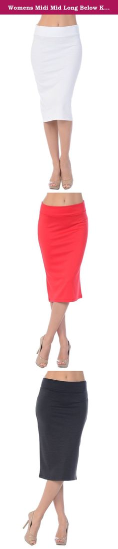 """Womens Midi Mid Long Below Knee Pencil Skirt Made in USA. :+::+: WARNING :+::+: Sellers Sheeqee, Yizisang, OUKERS are not selling proper Jubilee Couture's brand and they are in China and the quality and material is not the same. We are in process of reporting this issue. Please be careful with other sellers with counterfeit, including seller """"fitters"""". Jubilee Couture's product is only sold directly from Jubilee Couture. Pencil skirt with a great length that comes nicely down below the…"""