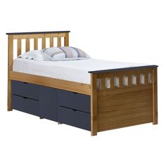 alpenhome corral single captain bed frame