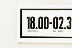 SAVE THE DATES 18.00 - 02.30 by Massimiliano Pace, via Behance
