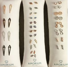 Wouldn't life be set if you owned all of these beautiful earrings?  www.amorium.com