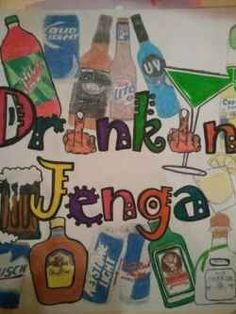 Ideas For House Party Games Drinking Giant Jenga Drinking Jenga, Fun Drinking Games, Yard Jenga, Outdoor Jenga, Outdoor Games, Drunk Jenga, College Drinks, Jenga Game, Fiestas