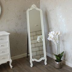 Here at Melody Maison, we stock a fantastic range of elegant shabby chic and french style items, ranging from furniture ranges to home accessories. White Furniture, Furniture Design, Boutique Interior, Luxury Mirror, Standing Mirror, Room Accessories, Decoration, Bedroom Decor, Cheval Mirror