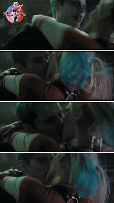Harley quinn and the joker kissing