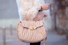 Quilted leather. Whose gorgeous bag is this??