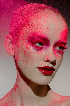Stunning bold lips from Ellis Faas. Ellis Faas has worked with everyone from Mario Testino to Karl Lagerfeld.