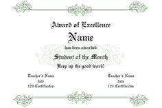 Free Award Certificate Templates - floral ornament design, open border styling