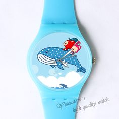 Ali jump over the sea Custom classic photo watch