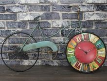 12 pulgadas Vintage Mural reloj de pared grande de simulación de la bicicleta pared decoración salón reloj de pared Digital Bar accesorios(China (Mainland))