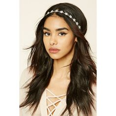 Forever21 Floral Rhinestone Headband ($4.90) ❤ liked on Polyvore featuring accessories, hair accessories, silver, forever 21 headbands, floral headbands, headband hair accessories, floral hair accessories and head wrap headband
