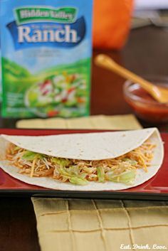 Crock Pot Ranch Chicken Tacos...tasty chicken tacos made in your slow cooker with just a few ingredients!