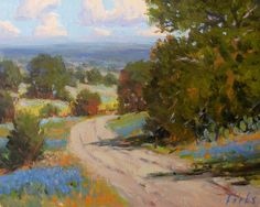 """Print of """"Bend in the Road"""" by Texas artist David Forks"""