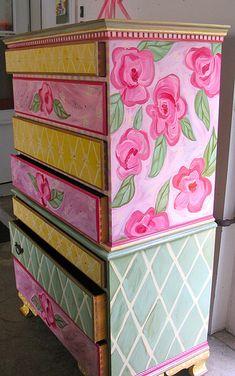 Sweet little girl's painted dresser