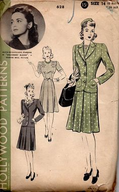 1940's Hollywood Patterns 628