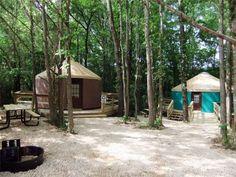Glamping Arkansas in Hot Springs National Park Yurts