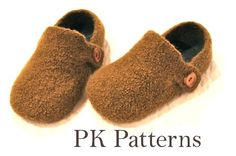 INSTANT DOWNLOAD Knitting PATTERN (pdf file) - Men's Slippers U.S./Can. sizes 8-13