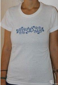 Tričko s folklórnym motívom dámske Basic ( výber z farieb a veľkosti)