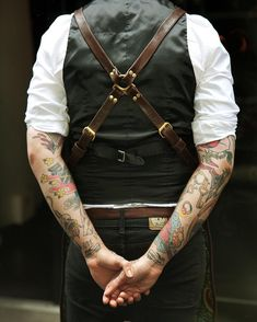Ray Steels leather apron in dark brown.  www.raysteels.com  #leather…                                                                                                                                                                                 More