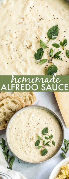 An EASY Homemade Alfredo Sauce Recipe from scratch! This sauce beats Olive Garde… An EASY Homemade Alfredo Sauce Recipe from scratch! This sauce beats Olive Garden's and is so easy to make! Simple ingredients with phenomenal results in 10 minutes! Home Made Alfredo Sauce, Alfredo Sauce Recipe Without Heavy Cream, Easy Homemade Alfredo Sauce, Make Alfredo Sauce, Recipe Alfredo, Easy Alfredo Sauce Recipe With Half And Half, Alfredo Sauce Recipe With Flour, Chicken Alfredo Sauce Recipe Easy, Italian Foods