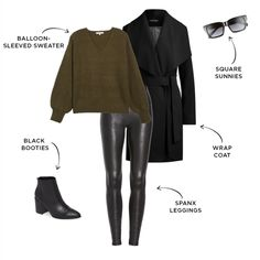 6 Ways to Style Spanx Faux Leather Leggings Leather Leggings Outfit, Spanx Faux Leather Leggings, Legging Outfits, Winter Fashion Outfits, Fall Winter Outfits, Casual Outfits, Trendy Fashion, Girl Outfits, Marchesa