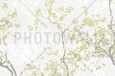 Moose Memory - Olive - Fotobehang