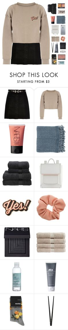 """""""- i dunno i'm too lazy to think of anything"""" by philosoqhy ❤ liked on Polyvore featuring River Island, My Mum Made It, NARS Cosmetics, Surya, Christy, Kenzie, ALDO, Anya Hindmarch, Dorothy Perkins and The Body Shop"""