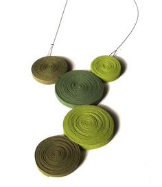 a few pretty things: Textile jewerly