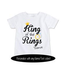 Custom tshirt funny kids wedding shirt King of the Rings by Exit17