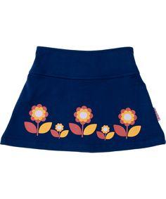 Baba Babywear cute blue skirt with little retro flowers. baba-babywear.en.emilea.be