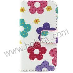 Colorized Blumen Quermuster-Magnetic-Mappen-Art-Standplatz Filp TPU   PU-Leder Tasche für iPhone 5C