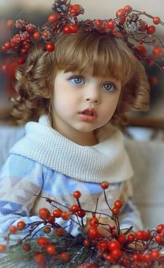 Russian child model Anna Pavaga with Fall/Autumn scenery.