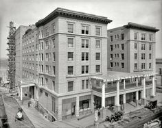 Hotel Marion 1908 Pine Bluff Shorpy Historical Photos High Resolution Little Rock