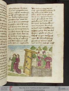 Cod. Pal. germ. 60: Historienbibel ; Irmhart Öser ; 'Brandans Reise' u.a. (Südwestdeutschland, um 1460), Fol 55r